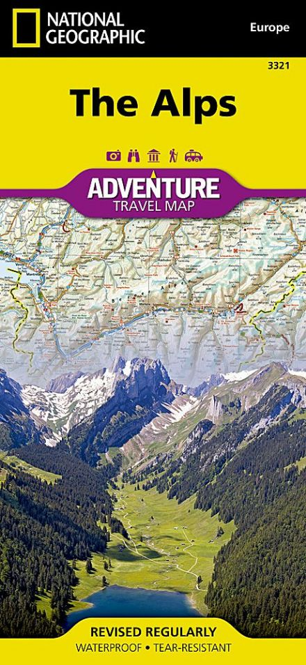 The Alps - National Geographic Adventure Map